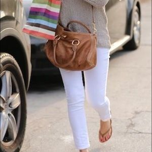 White cropped skinny jeans!